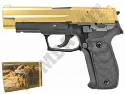 GG106 BB Gun Sig Sauer P226 Replica Gas Airsoft Pistol 2 Tone Gold Black